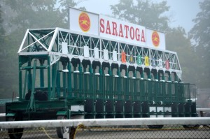 Picture of Saratoga race track starting gate.
