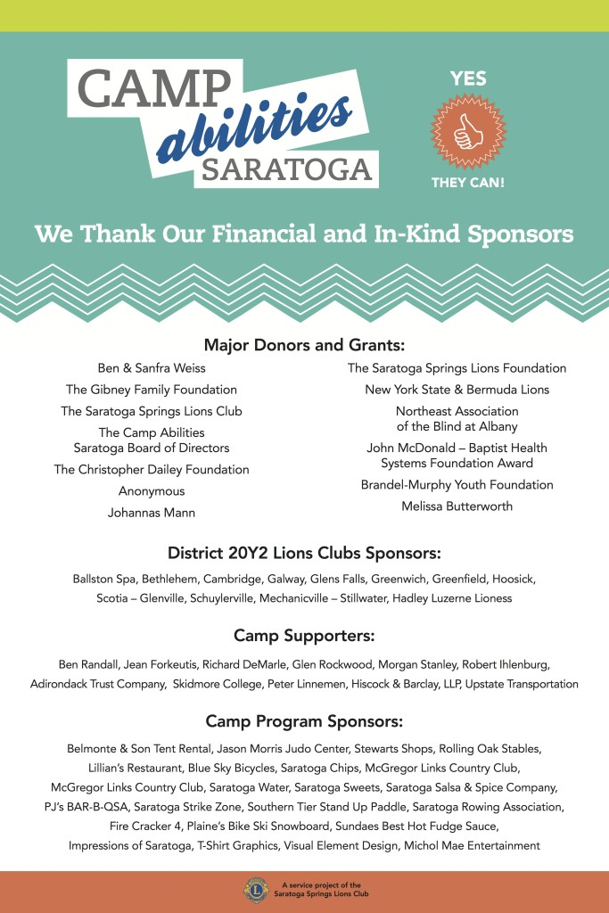 2014 Camp Supporters